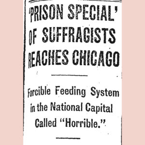 """""""Prison Special"""" of Suffragists, Article"""