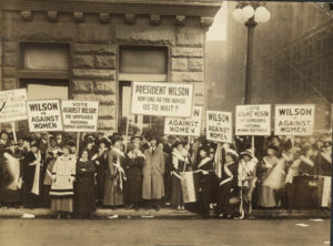 National Woman's Party Members Demonstration Against Wilson