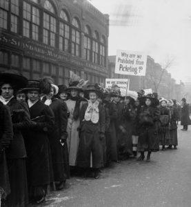 Garment workers on strike