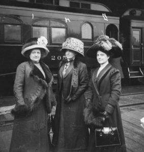 Lorenz, Stewart and Seass on Railroad Platform