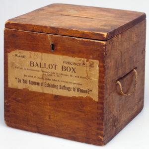 Woman's Suffrage Ballot Box, 1912