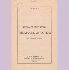 Woman's Best Work: Making of Voters Cover 1912