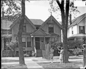 Black and white photo of Frances Willard House
